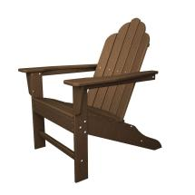 Polywood Long Island Teak Plastic Patio Adirondack Chair
