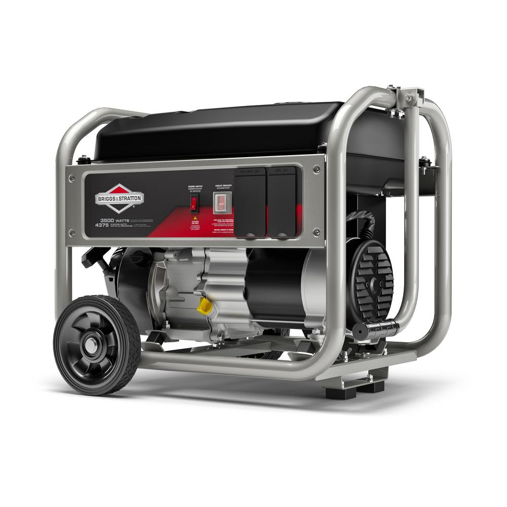 medium resolution of briggs stratton 3 500 watt gasoline powered manual start portable generator with briggs and stratton