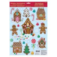 Amscan Christmas Gingerbread House Window Clings (6-Pack ...