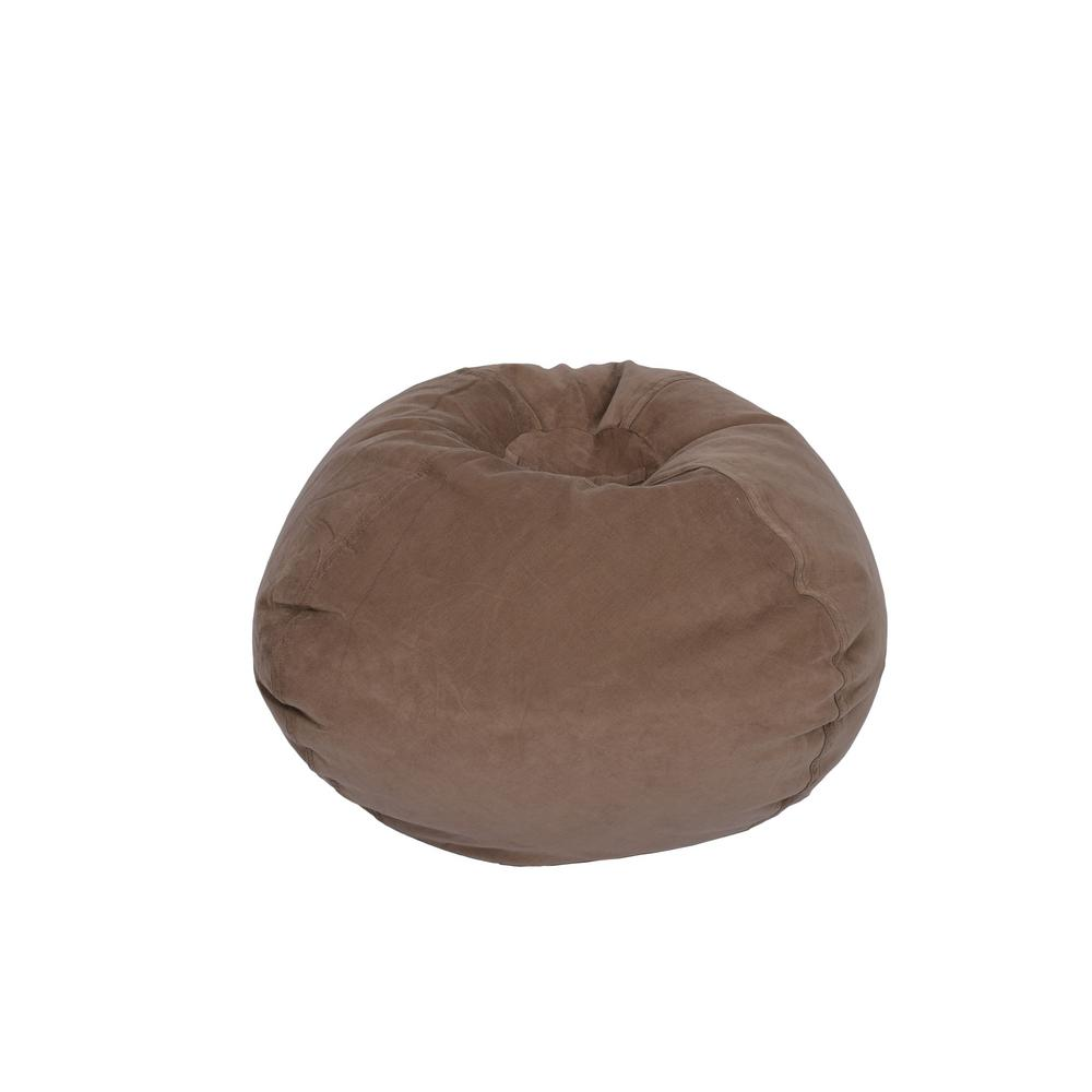 corduroy bean bag chair rocking chairs at target ace casual furniture dark taupe 9603201 the home depot
