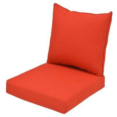 acrylic chairs with cushions boy potty chair outdoor the home depot cushionguard ruby 2 piece deep seating lounge cushion