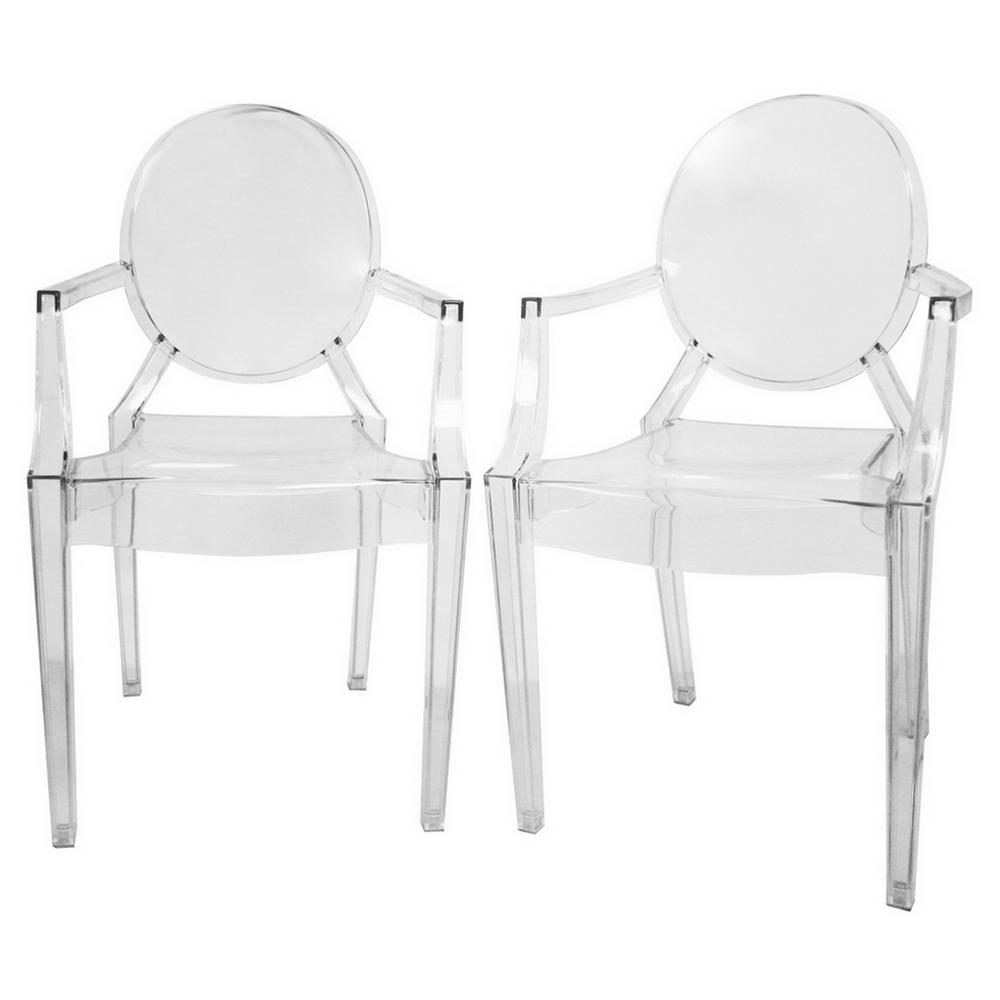 Plastic Clear Chair Dymas Clear Finished Plastic Dining Chairs Set Of 2