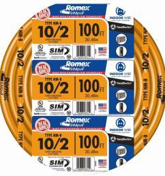 10 2 solid romex simpull cu nm b w g wire [ 1000 x 1000 Pixel ]
