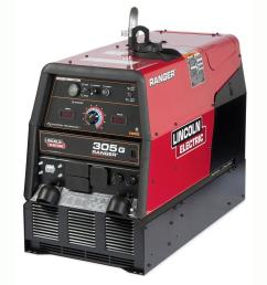 lincoln electric 300 amp ranger 305 g gas engine driven multi process dc welder  [ 1000 x 1000 Pixel ]