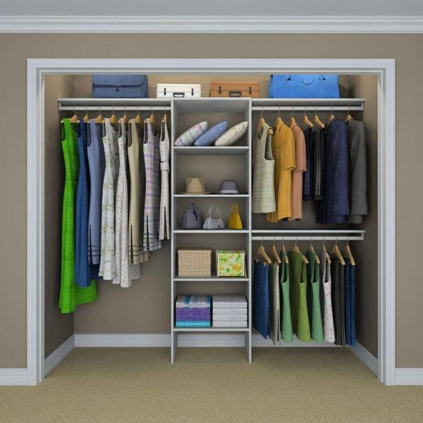 Closetmaid Selectives 83 In. X 120 14.5 Basic Closet System In White-17029