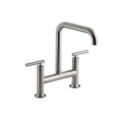 bridge faucets kitchen stainless steel aid mixer the home depot purist 2 handle faucet in vibrant