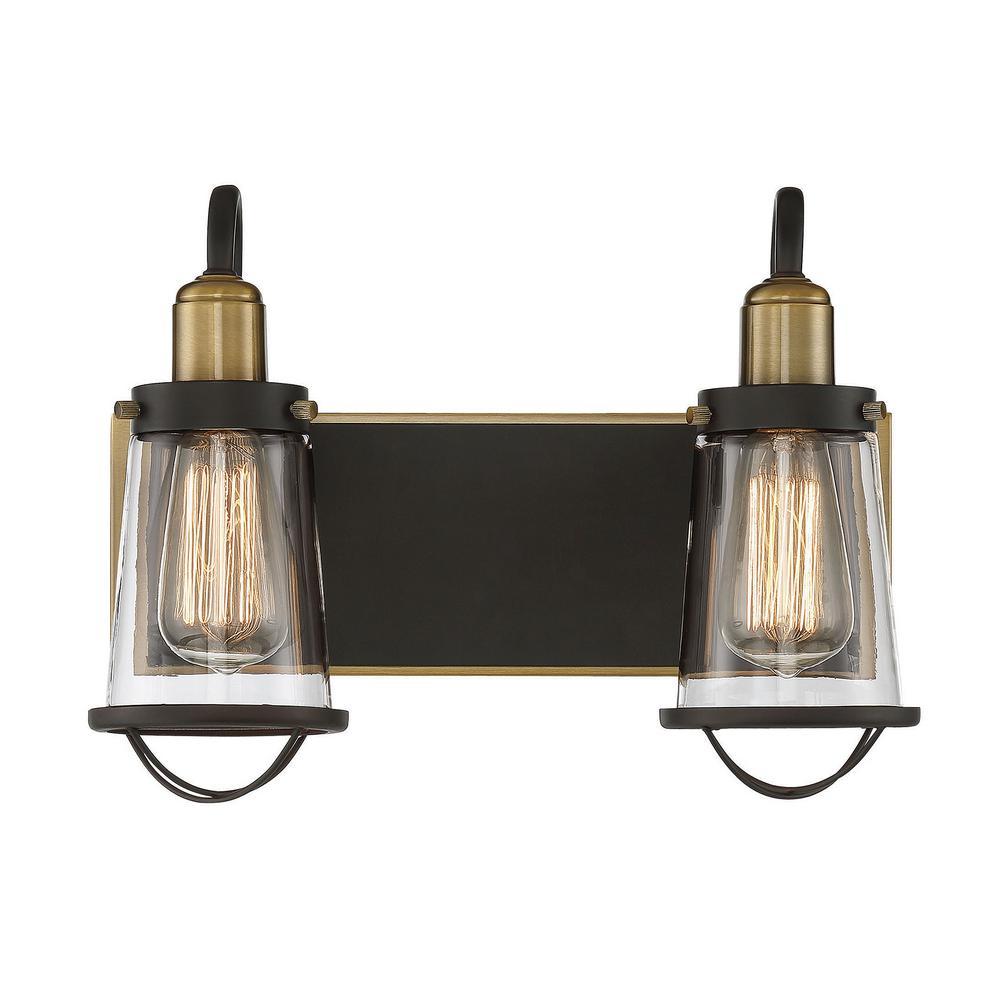 Filament Design 1Light Weathered Brass Bath LightCLI