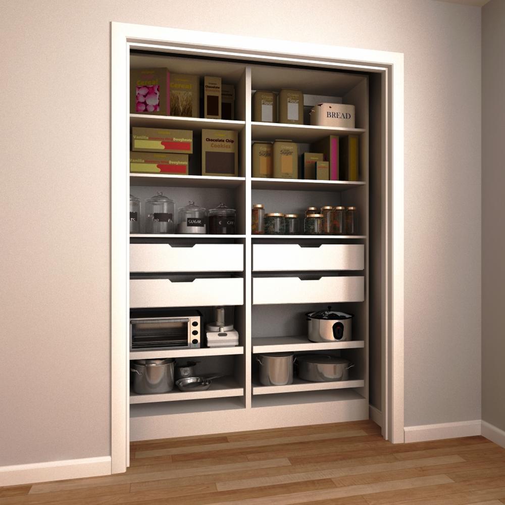 kitchen pantry organizer water dispenser organizers storage organization the home depot h melamine