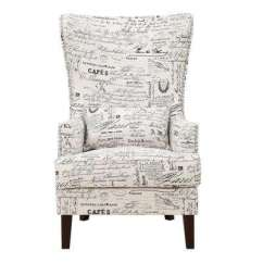 Accent Wingback Chairs Ice Fishing Chair On Sale Nailhead Trim The Home Depot Kegan French Script