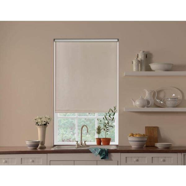 Bali Cut-size White Cordless 12 Mm Blackout Vinyl Roller Shade - 37.25 In. X 78 L-37