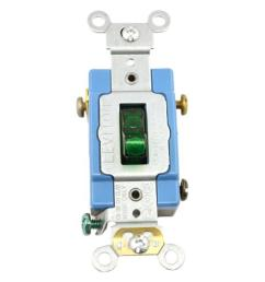 leviton 15 amp industrial grade heavy duty single pole pilot light toggle switch green [ 1000 x 1000 Pixel ]