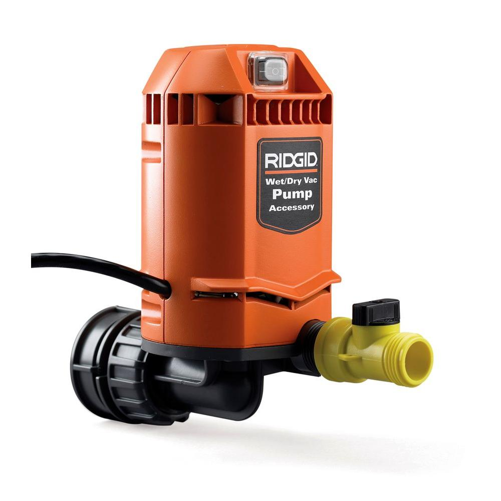 hight resolution of ridgid quick connect pump accessory for ridgid wet dry vacs