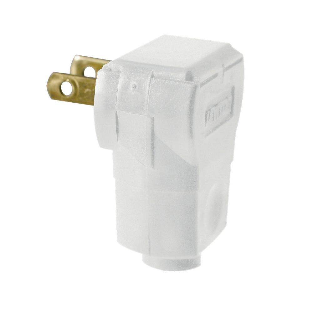 medium resolution of leviton 15 amp white non polarized angle plug