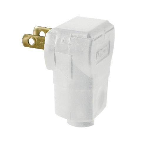 small resolution of leviton 15 amp white non polarized angle plug