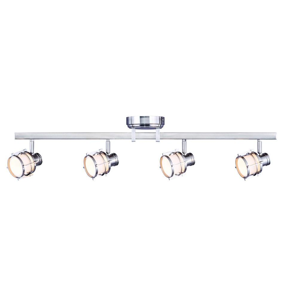 Hampton Bay 4-Light Pewter Integrated LED Track Lighting