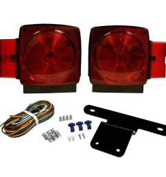 trailer lamp kit 5 1 4 in stop tail turn submersible square lights for under and over 80 in applications [ 1000 x 1000 Pixel ]