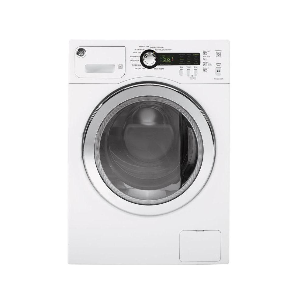 hight resolution of ge 2 2 cu ft stackable white front loading washing machine energy star