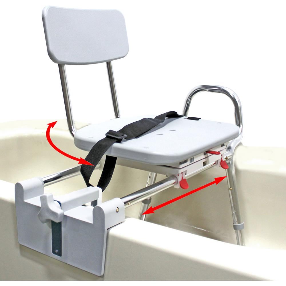 shower chair vs tub transfer bench how much do covers cost eagle health supplies mount swivel sliding bath 350 lb weight capacity heavy duty bathtub