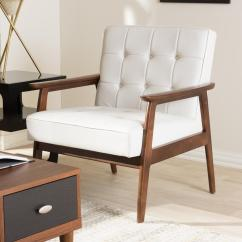 Mid Century Modern Leather Accent Chair Home Office Desk Chairs Review Baxton Studio Stratham White Faux Upholstered 28862 4244 Hd The Depot
