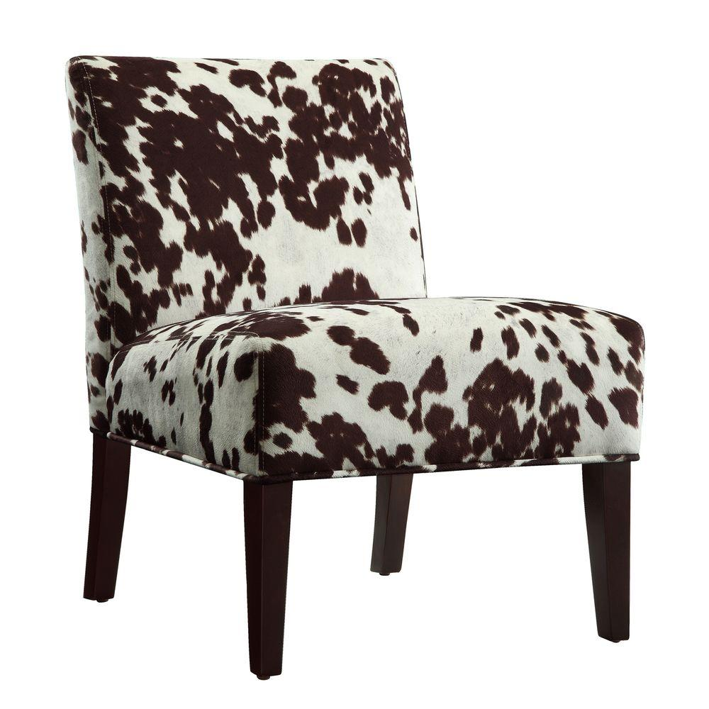 Cow Hide Chair Homesullivan Cowhide Accent Chair 40468f23s 3a The Home Depot