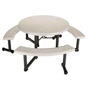 Lifetime 44 in Round Picnic Table with 3 Benches22127