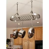 Ceiling Pot Rack With Lights  Shelly Lighting