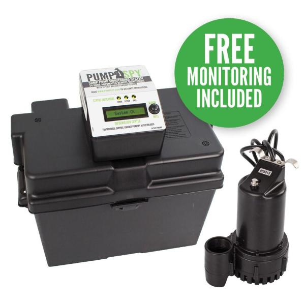 Wayne 1 3 Hp - 12-volt Battery Backup Sump Pump System-esp25 Home Depot