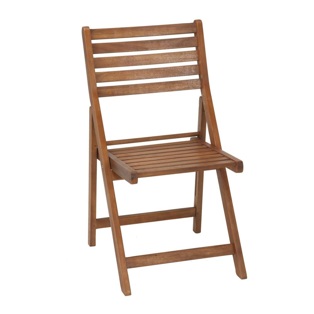 Cosco Intellifit Folding Wood Outdoor Dining Chairs 4