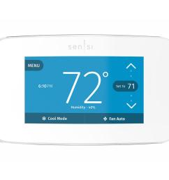 emerson sensi touch wi fi 7 day programmable thermostat in white [ 1000 x 1000 Pixel ]