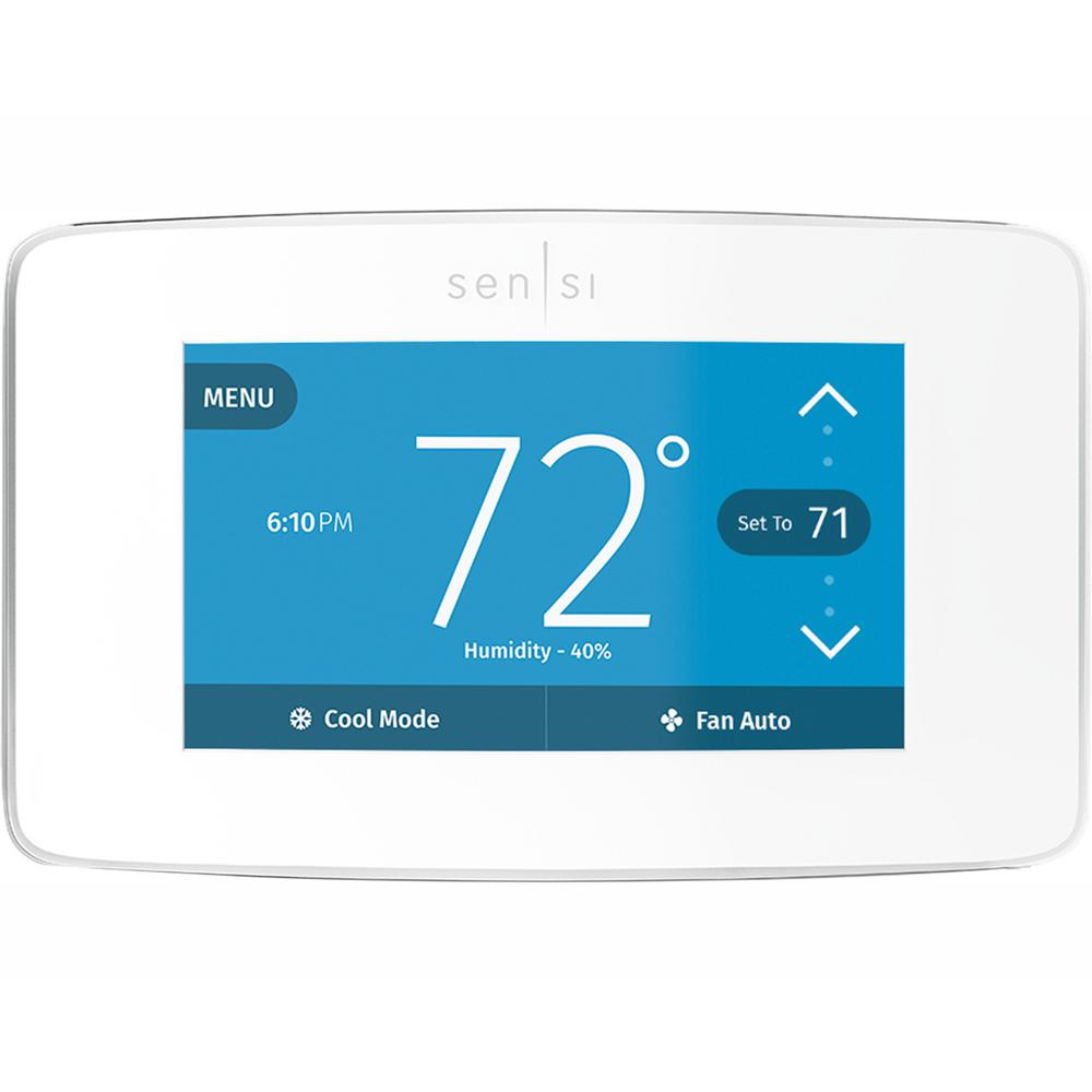 medium resolution of emerson sensi touch wi fi 7 day programmable thermostat in white