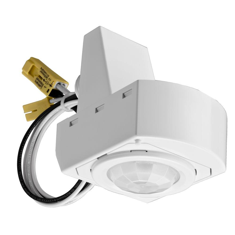 medium resolution of 360 mounted white motion sensor fixture