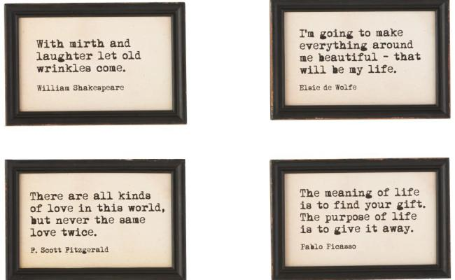 3r Studios 9 In H X 6 In W Famous Quotes Framed Wall Art