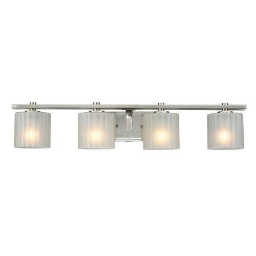 small resolution of hampton bay sheldon 4 light brushed nickel vanity light with frosted glass shades