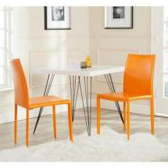 Orange Kitchen Chairs Anti Fatigue Floor Mats Safavieh Dining Chair Karna Bonded Leather Set Of 2