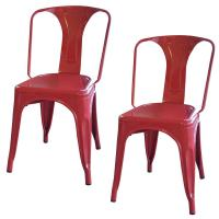 AmeriHome Red Metal Dining Chair (Set of 2)-BS3530RSET ...
