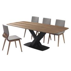 Dinning Room Table And Chairs Fixing Chair Springs Kitchen Dining Furniture The Home Depot Everett 5 Piece Walnut Set