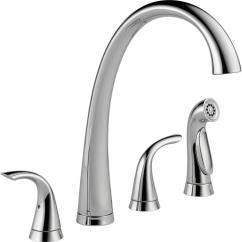 Two Handle Kitchen Faucet Cabinets Syracuse Ny Delta Pilar 2 Standard With Side Sprayer In Arctic Stainless 2480 Ar Dst The Home Depot