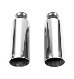 exhaust tip 09 17 dodge ram 1500 direct fit exhaust tips pair bright polish finish 4in [ 1000 x 1000 Pixel ]