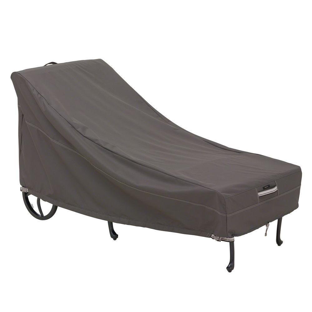 bed bath and beyond patio chair covers table chairs for rent classic accessories ravenna medium chaise cover 55 145 015101
