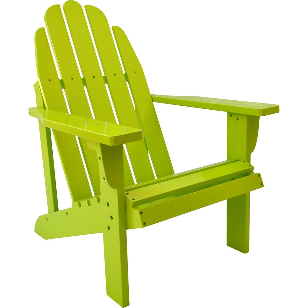 Lime Green Chairs Catalina Cedar Wood Adirondack Chair Lime Green