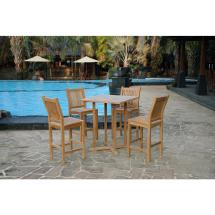 Tortuga Outdoor Jakarta 5-piece Teak Bar Height
