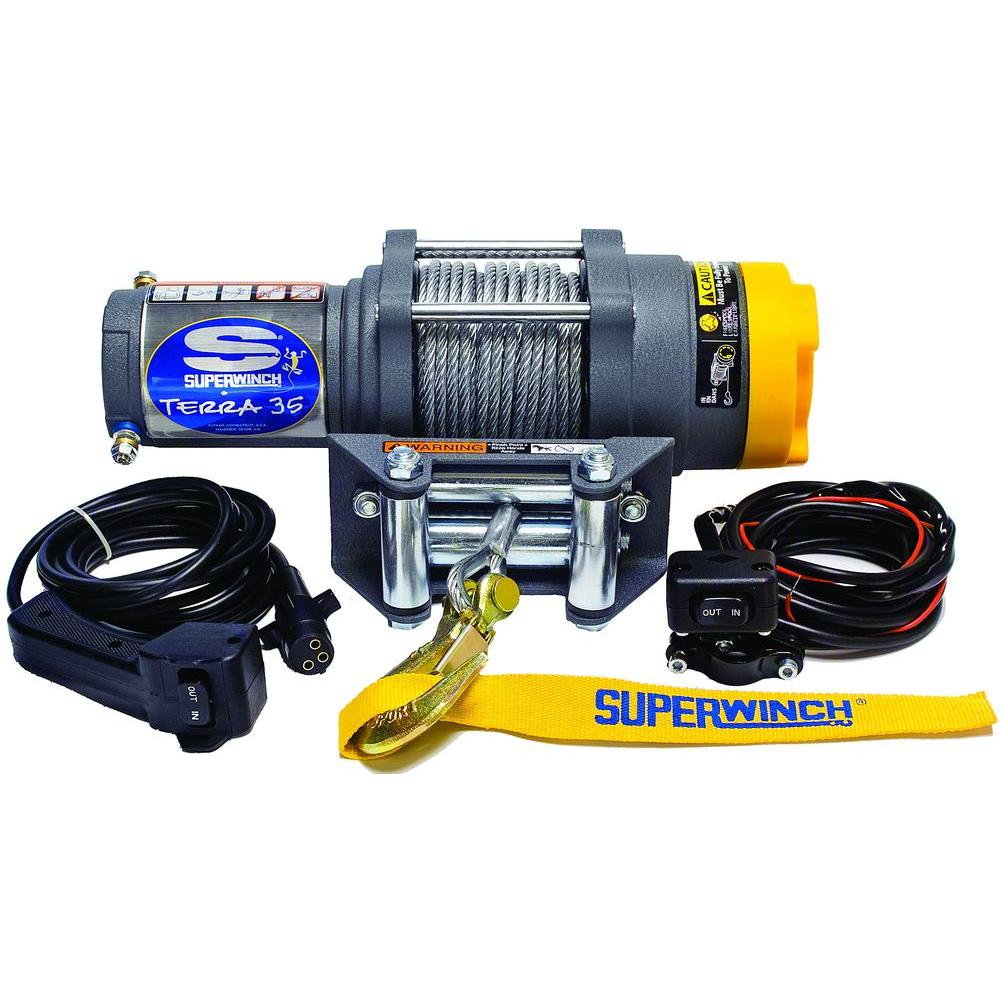 hight resolution of superwinch terra series 35 12 volt atv winch with 4 way roller rh homedepot com superwinch wiring diagram superwinch s3000 wiring
