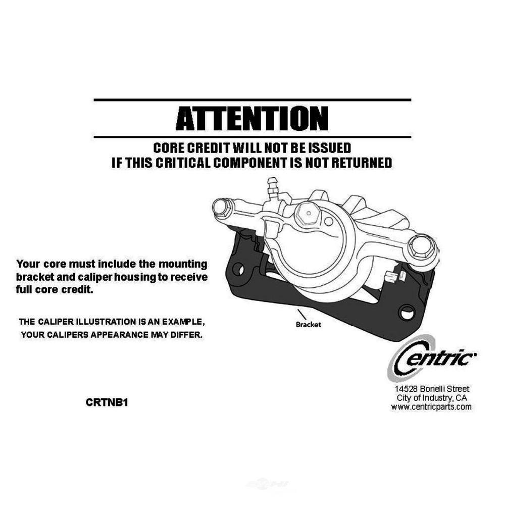 Centric Parts Disc Brake Caliper 2009-2014 Acura TL 3.5L 3