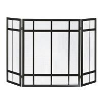 Pleasant Hearth Mission Style 3-Panel Fireplace Screen ...