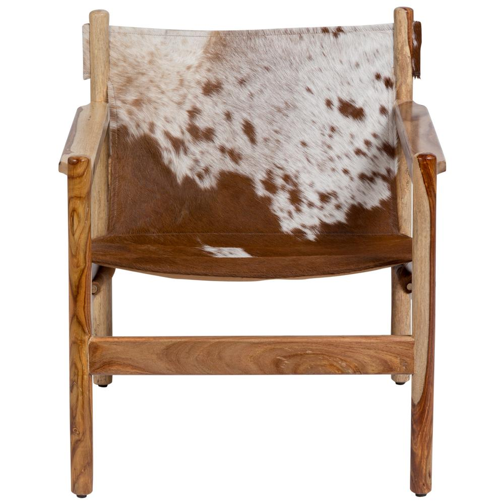Beautiful Chairs Genoa Cow Hide Leather Sling Chair Real Cowhide And Natural Sheesham Wood