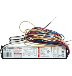 ge 120 to 277 volt electronic program start ballast for 2 or 1 lamp [ 1000 x 1000 Pixel ]
