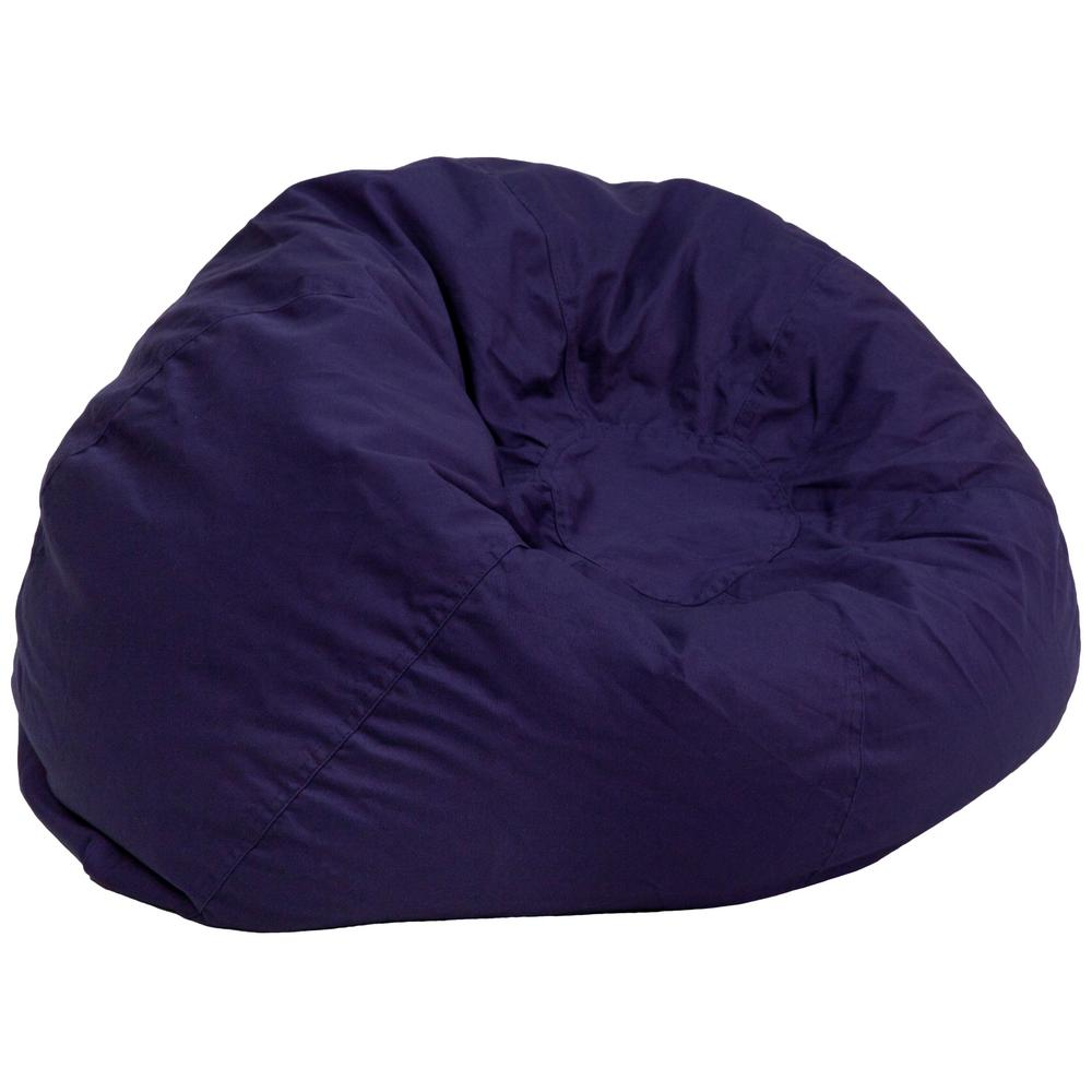 chairs in a bag ostrich 3 1 beach chair flash furniture oversized solid navy blue bean dgbeanlgsldbl the home depot