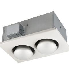 nutone 250 watt infrared 2 bulb ceiling heater [ 1000 x 1000 Pixel ]