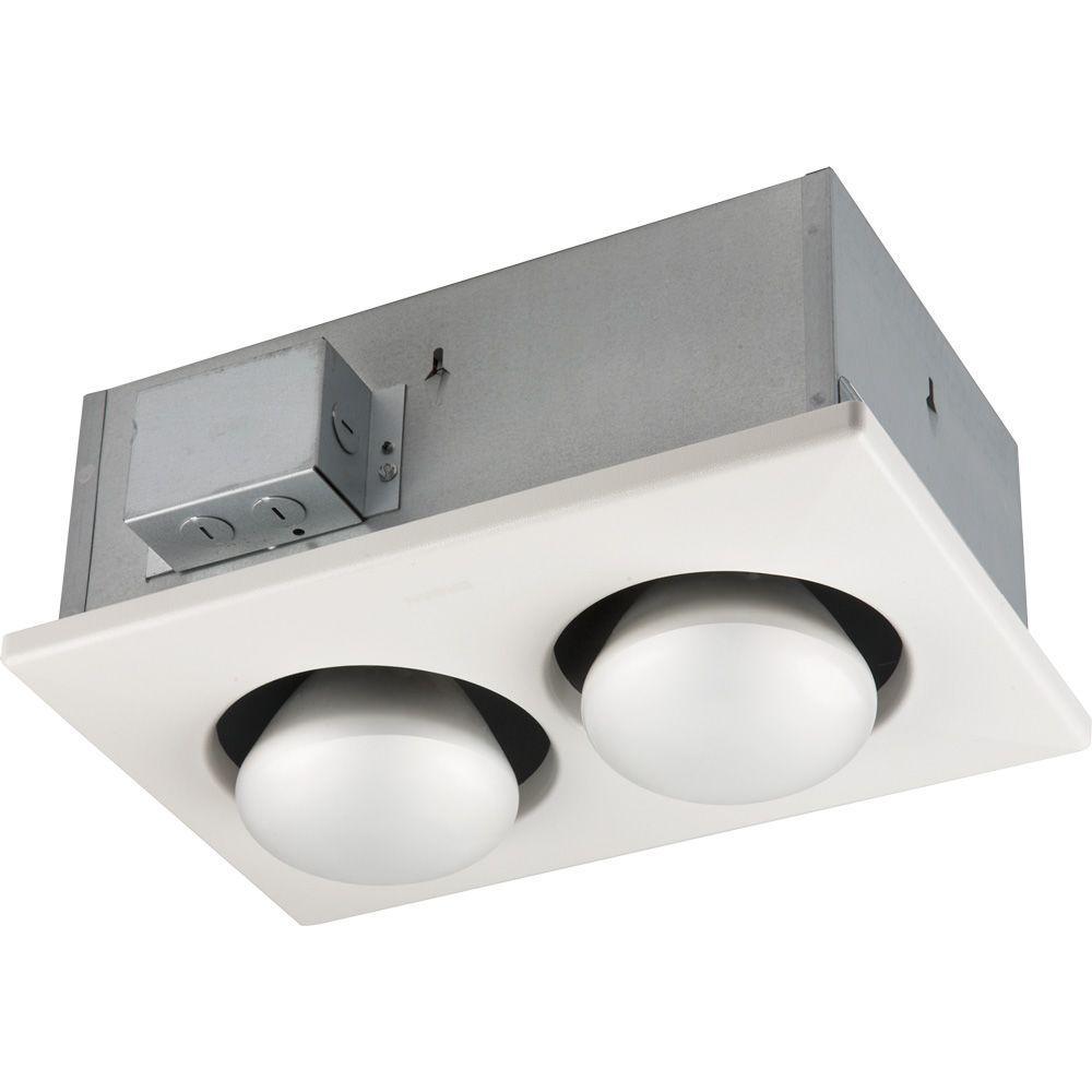 hight resolution of nutone 250 watt infrared 2 bulb ceiling heater