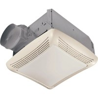 NuTone 50 CFM Ceiling Bathroom Exhaust Fan with Light ...